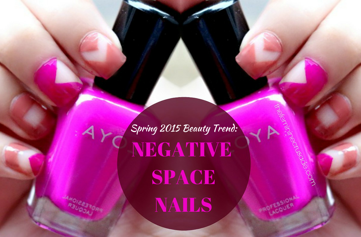 Spring 2015 Beauty Trends: Negative Space Manicure
