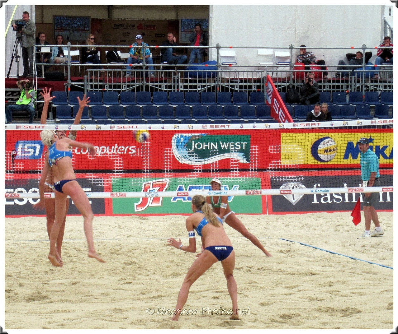 Attack of Russian Beach Volley Team