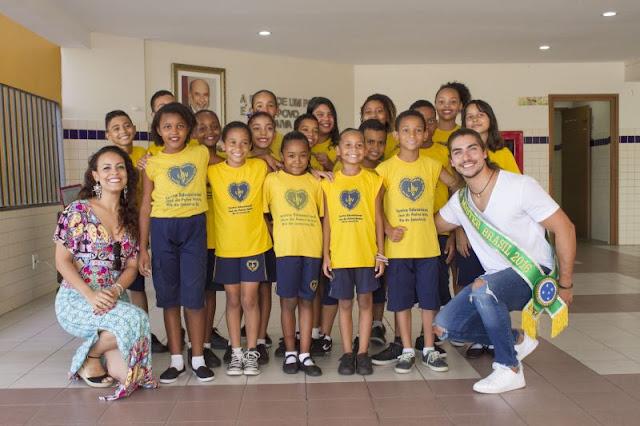 LBV RECEBE VISITA DO MISTER BRASIL