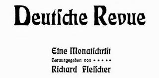 Deutsche Revue. Eine Monatschrift. Jahrgangs XXVIII, Februar 1903. Stuttgart und Leipzig 1903