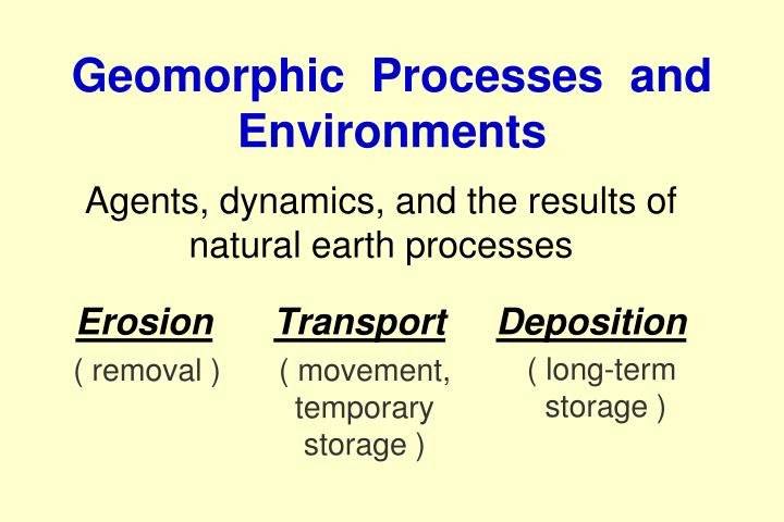 understanding the concept of geomorphic processes