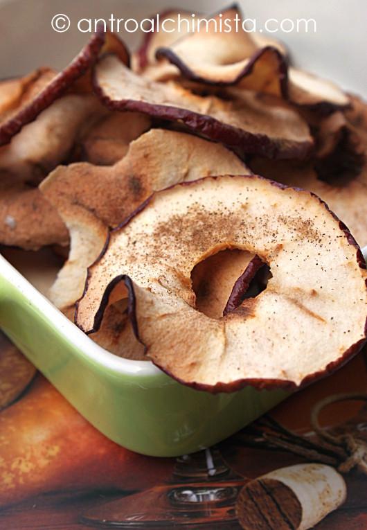 Chips di Mela alla Cannella