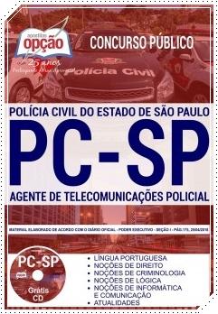 Concurso Público Agente de Telecomunicações Policial - Apostila Concurso PC SP 2018