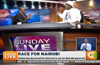 Senator Mike Sonko in an interview with Husein Mohamed on 19, March 2017. PHOTO | Courtesy