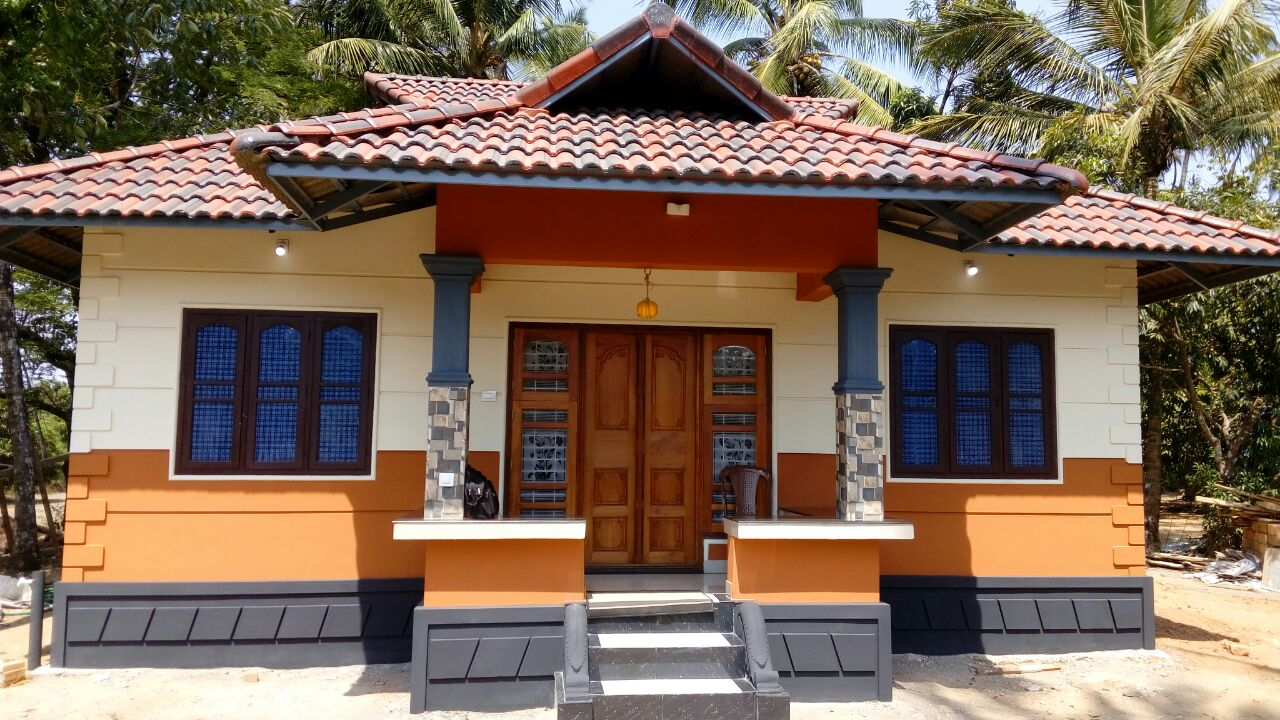 Building a house on a budget - 2bhk 650sqft 8lakh Budget Low Cost House At Pothannur
