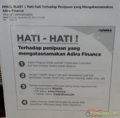 Informasi resmi dari Adira