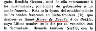 Marca de España, Gothia
