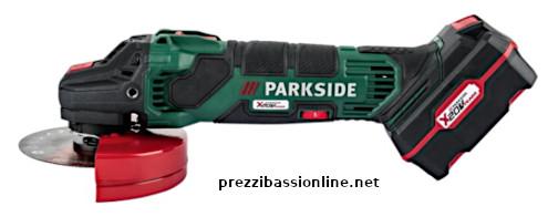 Smerigliatrice angolare ricaricabile 20v parkside da lidl for Smerigliatrice a batteria parkside