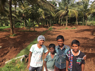At the back of the Children's Home they are getting ready to plant new crops