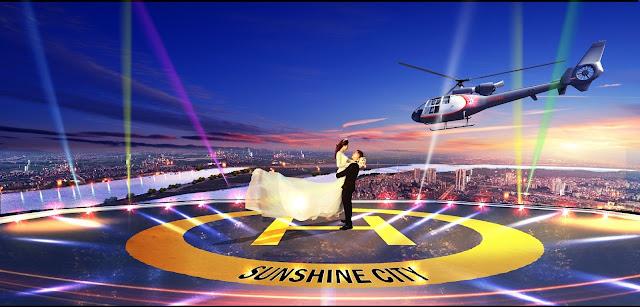 Bãi đỗ trực thăng tại Sunshine City