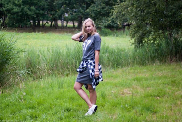 fashionblogger, fashion, look, outfit, shirtdress, yesstyle, sheinside, blouse, checked shirt,