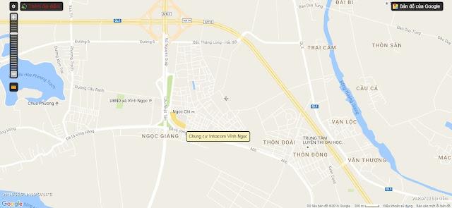 Vị trí của dự án căn hộ Intracom Vĩnh Ngọc.