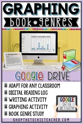 Graphing Book Genres in Google Slides is a digital writing activity that can be adapted for a variety of grade levels. Use this as a whole class or as individual reading logs! Can be used with iPads, Chromebooks, laptops, and desktop computers. Makes a great activity for Reading Month!