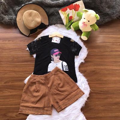 Set áo và quần ngắn short đẹp