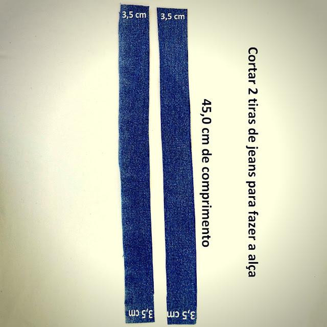 Molde das Alças do Cropped Jeans com Babados