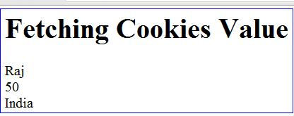 fetching cookies values