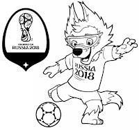 Desenhos Do Mascote Da Copa Do Mundo 2018 Para Colorir Indagacao