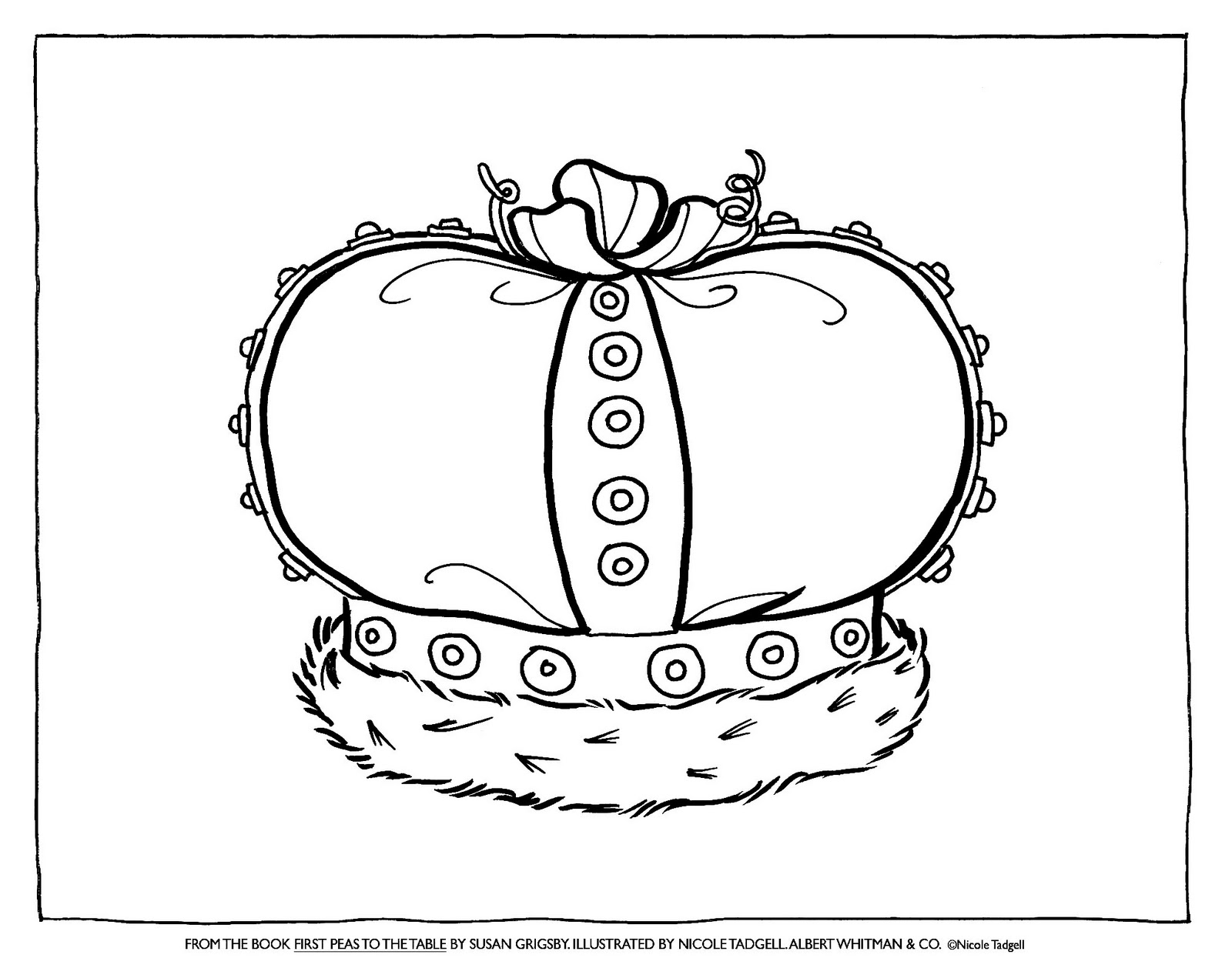 Nicole Tadgell Illustration Coloring Pages For First Peas