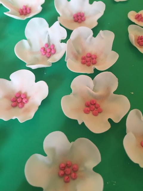 Handmade sugar cherry blossom