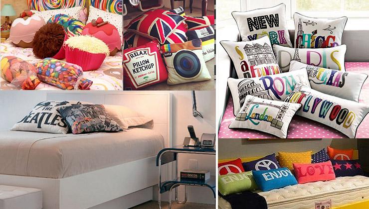 almofadas para usar na decoração de quarto