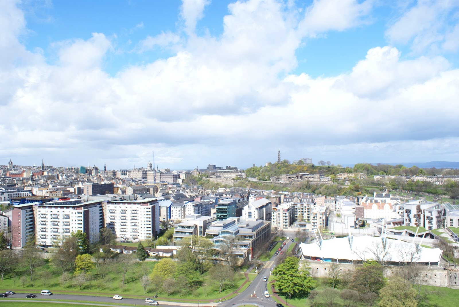 edinburgh city view skyline scotland uk