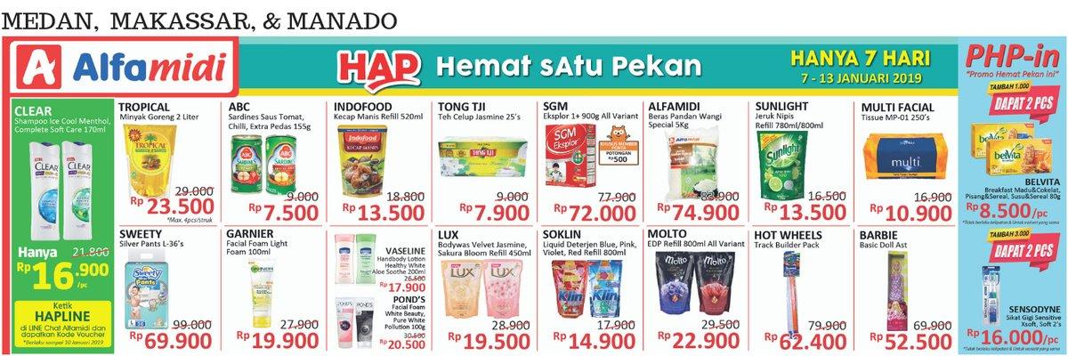 #Alfamidi - Promo Katalog Hemat Satu Pekan Periode 07 - 13 Januari 2019