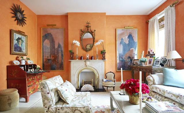Bright Orange Living Room Design Ideas