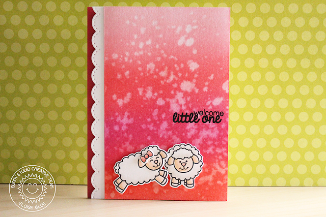 Sunny Studio Stamps: Missing Ewe Baby Themed Sheep Cards by Eloise Blue