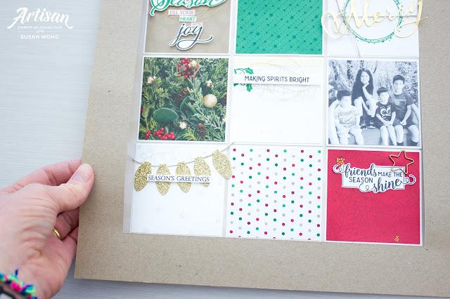 How to make a reusable frame for a sampler layout - Susan Wong, Stampin' Up!