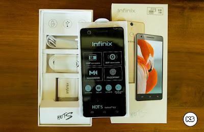 Infinix Hot S X521 tampak depan