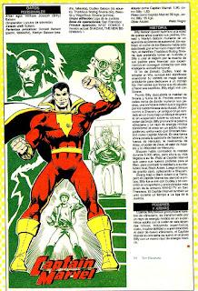 Shazam Ficha Dc Comics
