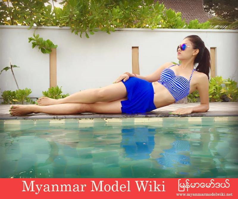 Phoo Pwint Thakhin Shows Off Her Beauty At Swimming Pool