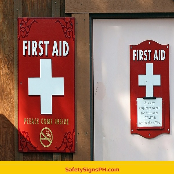 First Aid Door Signs