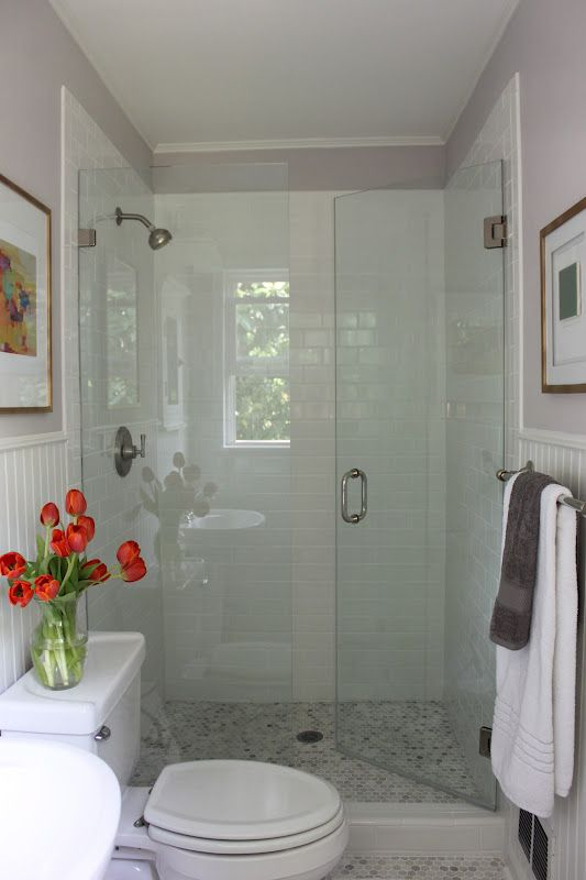 Fancy Because this space is pretty small I thought it would be nice to have a glass shower one that would open things up a bit because there are no windows