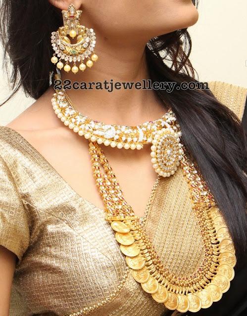 Deepali Diamond Choker Kasu Mala