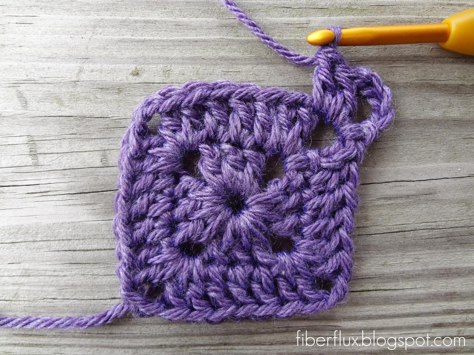 Fiber Flux How To Crochet A Solid Granny Square