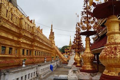 Bagian dari Pagoda Shwezigon di Bagan