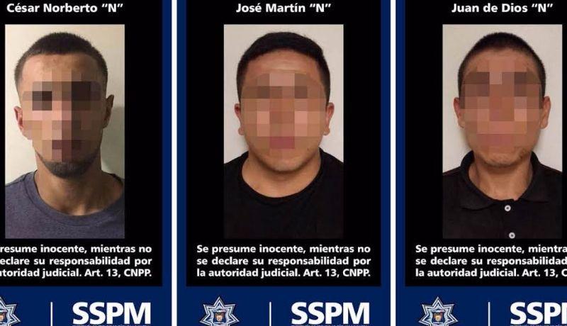 Turnan a tres integrantes de CJNG detenidos tras persecución.
