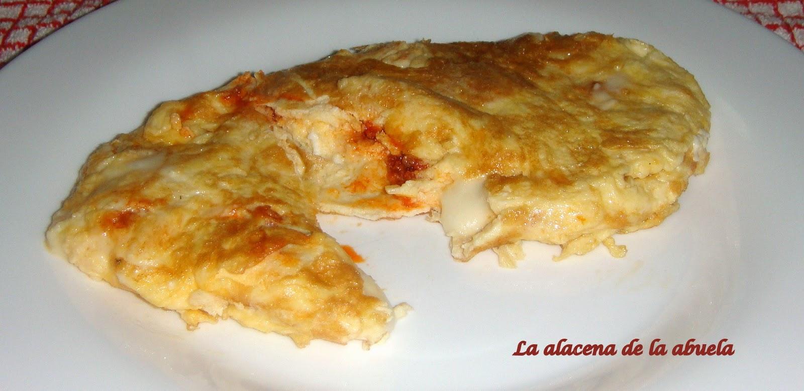 La alacena de la abuela carmen tortilla de sobrasada de for Cocina casera de la abuela