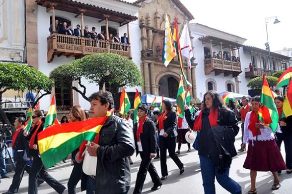 El desfile número 13 de la era Morales en agosto se torna en el más conflictivo / WEB ARCHIVO
