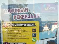 Customer Service Desain, Operator Mesin dan Administrasi