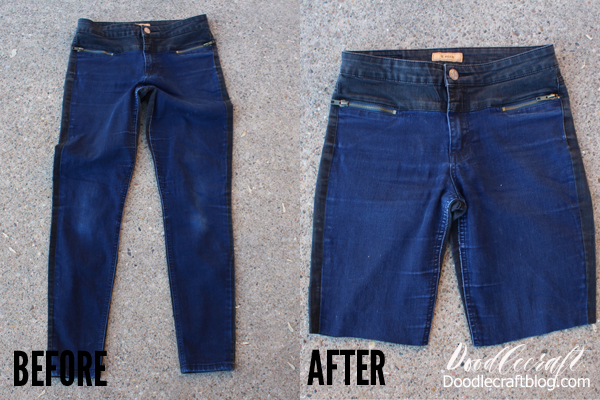How to cut jeans into shorts with one simple technique diy