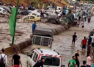 فيديو: السيول تغرق شوارع مدينة قسنطينة الجزائرية مخلفة خسائر مادية وبشرية كبيرة