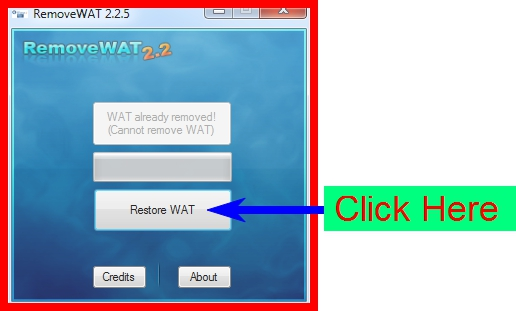 how to use removewat windows 7