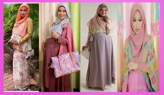 Gambar Model Baju Hamil Gamis Muslimah Masa Kini