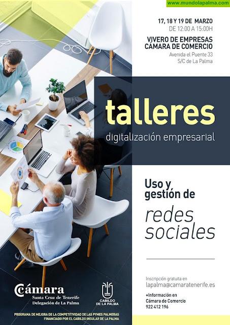 Cabildo de La Palma y Cámara de Comercio imparten un curso de uso y gestión de redes sociales para pymes