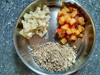 Pearl millet (Kambu) Puttu, Ash gourd masala & aviyal