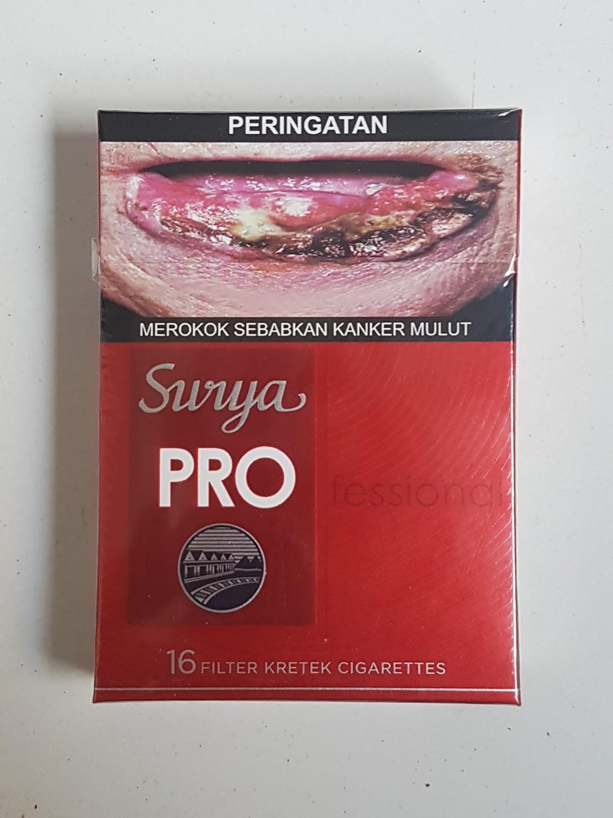 Surya PROfessional Merah SKM Full Flavor dengan Ukuran