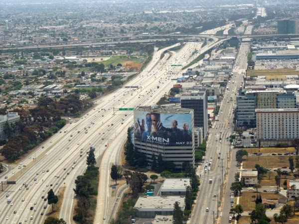 Giant X-Men Days of Future Past billboard San Diego Freeway