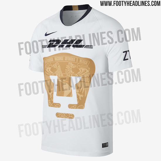 huge discount 77803 2a3d8 Pumas UNAM 18-19 Home Kit Revealed - Footy Headlines